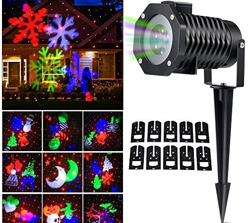Details Of Cheap Outdoor Christmas Laser Lights Christmas: Christmas Laser Light, Ucharge Snowflake Led Spotlight